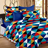 #7: Story@Home 120 TC 100% Cotton Yellow 1 Double Bedsheet With 2 Pillow Cover