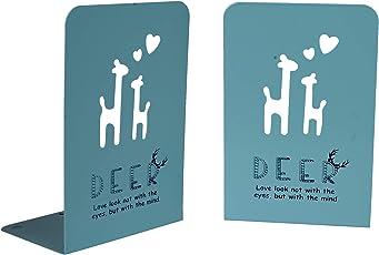 Enwraps Deer Cut Printed Bookend, Size: LBH(Inch)-4X5.5X8, Blue
