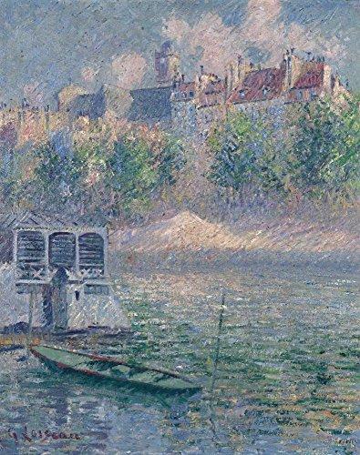 Das Museum Outlet-Die Quay von hotel-de-ville, Paris, 1918-Leinwanddruck Online kaufen (76,2x 101,6cm)