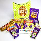 Cadbury Easter Treasure Pouch - By Moreton Gifts - Crunchie, Fudge, Curlywurly, Chomp, Freddo Sprinkles, Caramel and Normal, Buttons, Mini Crème, Dairy Milk and Caramel Eggs