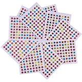 NUOLUX Estrellas de recompensa 10pcs surtidos Color estrella pegatinas etiquetas profesor fuentes