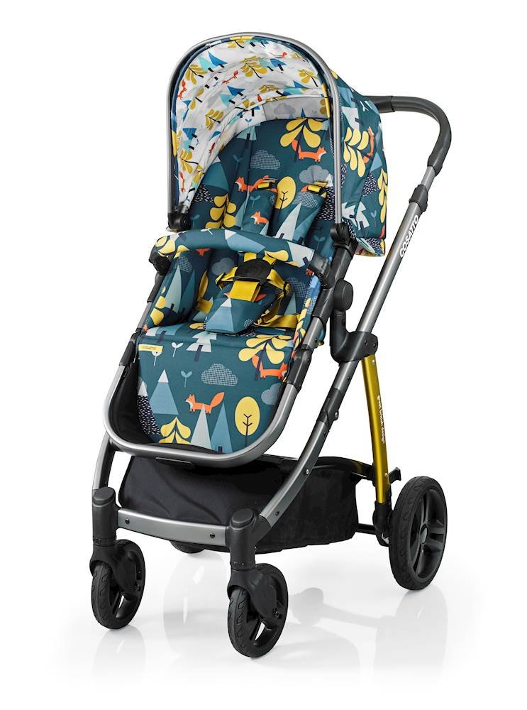Cosatto Wow Pram and Pushchair, from Birth Carrycot and Pushchair Suitable upto 25 kg, Fox Tale Cosatto Backed by science, Cosatto prams are ideal for your baby; the patterns in Cosatto hoods are designed to stimulate your baby with bright, eye-catching colour and storytelling pattern Includes the from-birth carrycot (suitable for occasional overnight sleeping), then swap to pushchair unit, suitable up to 25 kg, with parent and world facing options and four recline positions Easy one-handed features, push-button carrycot removal, seat recline and calf support 3