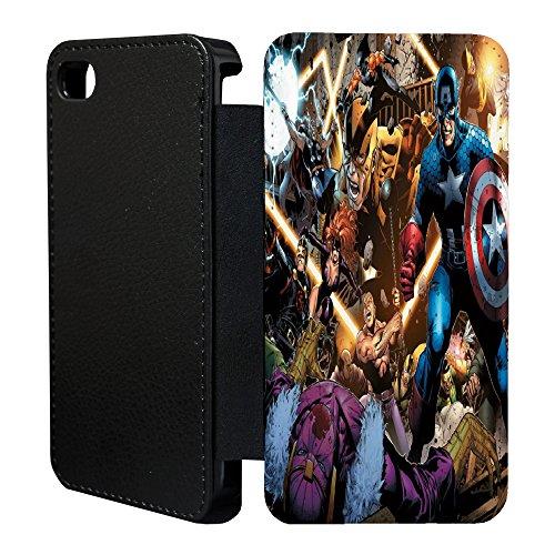 Comic Book Flip Wallet Schutzhülle für Apple iPhone 5C No. 14 ()