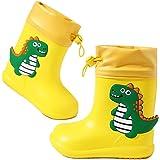 Botas de Agua Niños Niñas Forradas Botas de Lluvia niño Dibujos Animados Impermeable y Antideslizante Rain Boots