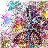 Yeehyc 5D DIY Diamant Malerei Set, Vollbohrer Kristall Strass Kreuzstich Stickerei Bilder Kunst Handwerk für Home Wand Decor, Bunt Schmetterling 30x30cm