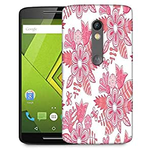 Snoogg Abstract Floral Background Designer Protective Phone Back Case Cover For Moto G 3rd Generation