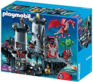 PLAYMOBIL 4835 - Citadelle du Dragon Rouge + 4836 - Donjon du dragon vert