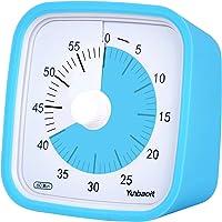 Yunbaoit   Timer analogico visivo  conto alla rovescia silenzioso  strumento di gestione del tempo per bambini e adulti blu