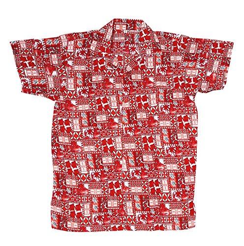 SAITARK Herren Freizeit-Hemd mehrfarbig mehrfarbig RED 4TURTLE