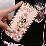 Coque iPhone 5S,Coque iPhone SE,Coque iPhone 5,ikasus [Support d'amour] Bling...