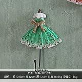 FuRongHuang El Paraguas Decoración Gancho Gancho De Llaves Colgador De Pared Percha Vestido De Princesa,Gran Falda Azul Gancho