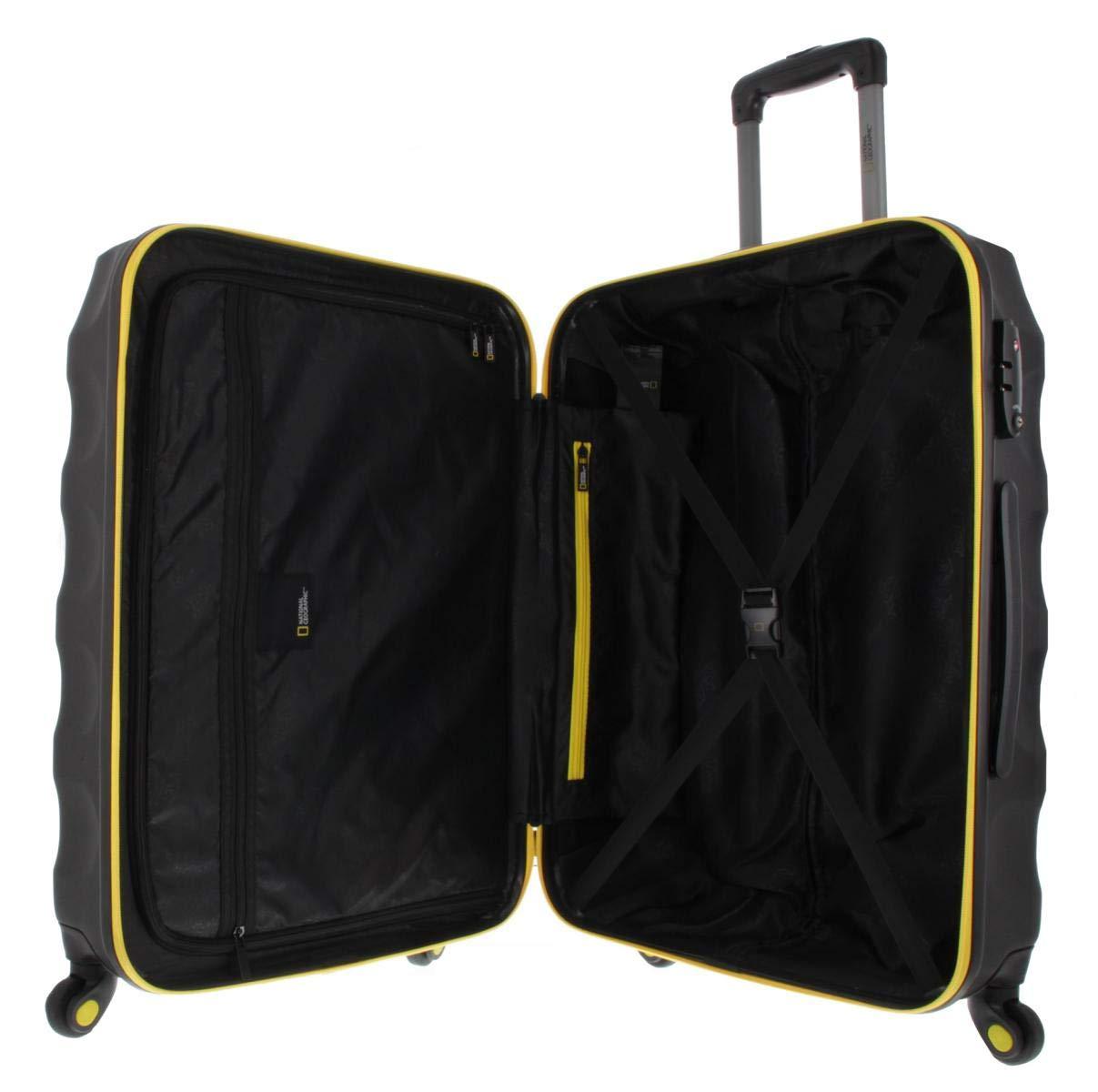 National-Geographic-Spinner-Koffer-4-Rollen-Zahlenschloss-Zoll-Gr-S-M-L-dreier-Set-Arete-Trolley