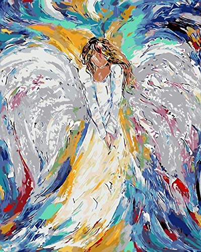 Diefds Farbe Engel Malen nach Zahlen Malen nach Zahlen Malen nach Zahlen Für Hauptdekoration Bild Ölgemälde Leinwand Gemälde -