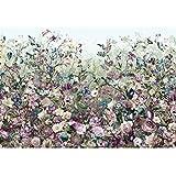 """Komar XXL4-035368x 248cm """"Botanica blühenden Botanischer Garten"""" Tapete Wandbild-Violett (4Stück)"""