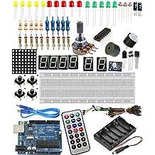 Sintron W5100 - Tamaño mediano Uno R3kit de iniciación para Arduino AVR MCU, alumno