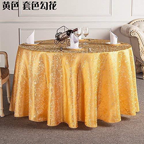 YHEGV Hotel runder Tisch tischdecke Tuch tischdecke teetisch europäisches Restaurant Restaurant tischdecke tischdecke runder Tisch Rock, gelb, runde 380cm nähte (Gelb Tisch Rock)