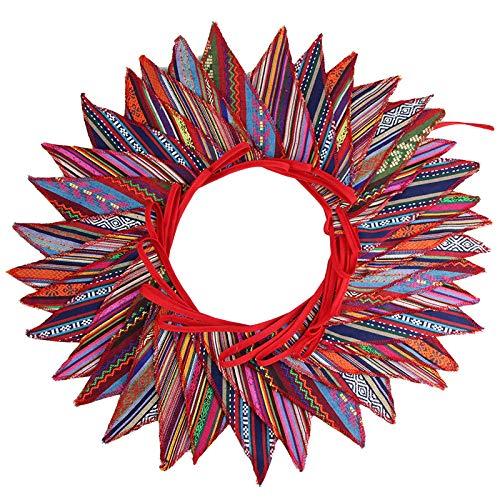 Süße Beidseitig Wimpel Girlande, 10M Bunting Wimpelkette mit 36 STK Farbenfroh Wimpeln für Hochzeits Geburtstag Party -