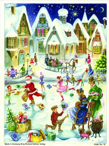 """Adventskalender\""""Eislaufen\"""": Papier-Adventskalender"""