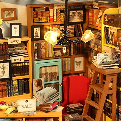 DIY Bausatz Buchhandlung/Bibliothek mit LED Licht - 2
