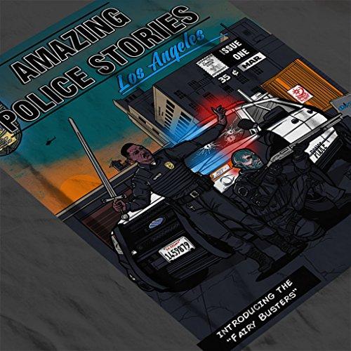 Amazing Police Stories LA Bright Women's Hooded Sweatshirt Anthracite