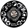 Game of Thrones Theme Creative Black Vinyl Record Clock