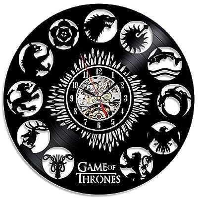 Game of Thrones Theme Creative Black Vinyl Record Clock
