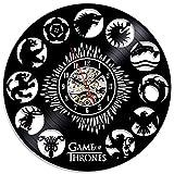 Game of Thrones Thema Kreative schwarzen Vinyl-Schallplatte Uhr