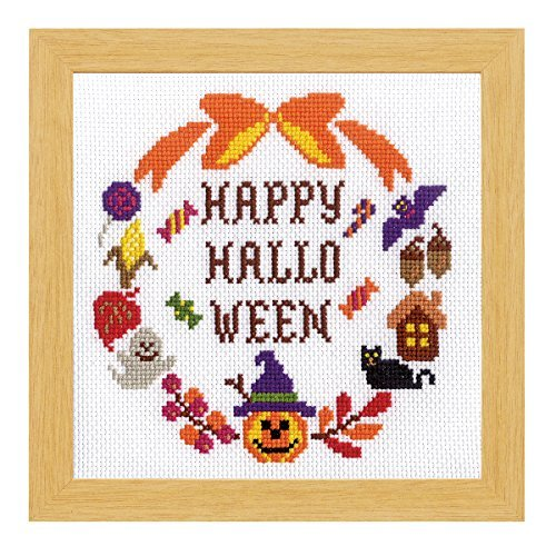 Kreuzstich gestickter Kasten Halloween (Mieten Halloween)