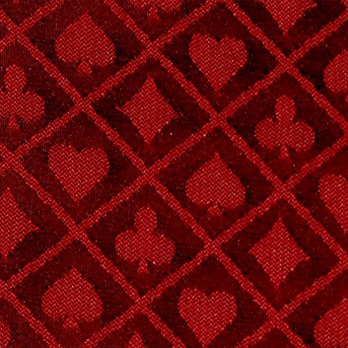 (10' Section of Red Two Tone Poker Table Speed Cloth)