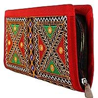 Craft Trade Embroidered Clutch Purse Wallet Handmade Rajasthani Designer Handbag For Women/Girls