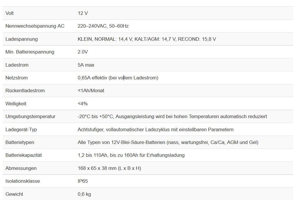 CTEK MXS 5.0 Test & Charge Caricabatteria, 12V-5A