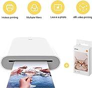 per Xiaomi Stampante Portatile, AR video Printing, Bluetooth 5.0, w/ZINK Tecnologia Zero Ink Printing, Photo Printer 300DPI M