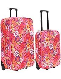 Slimbridge Algarve juego de 2 maletas ligeras, Rosado