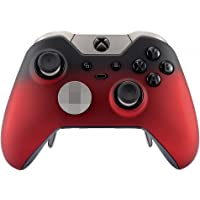 eXtremeRate® Red Shadow Soft Touch Replacement Faceplate Front Shell for Xbox One Elite Controller Model 1698