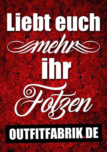 Outfitfabrik ♥ hearts; 25 Sticker Liebt euch mehr ihr Fotzen