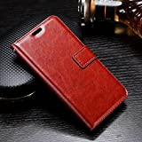 XORB® Nokia 8 Flip Cover PU Leather Case Premium Luxury Revel Touch PU Leather Cover for Nokia 8 Brown