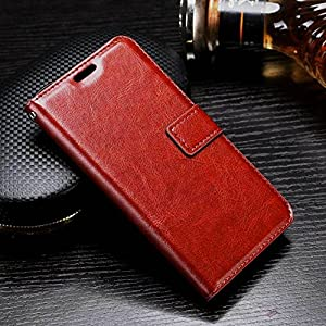 XORB® Vivo V7 Flip Cover PU Leather Case Premium Luxury Revel Touch PU Leather Cover for Vivo V7 Brown