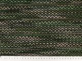 ab 1m: Modischer Strick-Jacquard, grün-multicolor, 150cm breit
