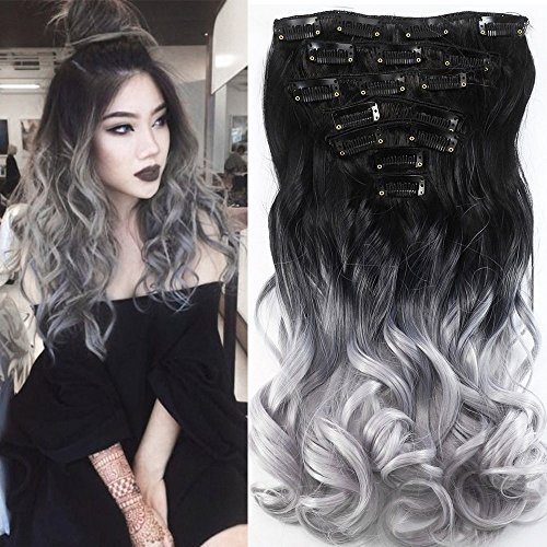Neverland extension per capelli, due tonalità, 7 pezzi, ombre, capelli ricci, resistente al calore, come capelli veri