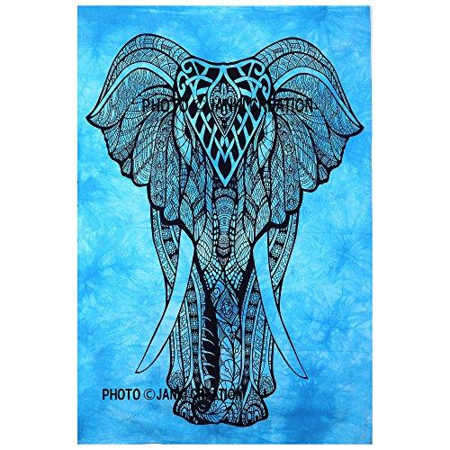 Elefant Poster Größe 30x 40, Hippie Mandala Bohemian Poster indischen Wandbehang Decor Poster, Wohnheim Big Elefant Zähne Poster Größe Fenster HOME DECOR Wandbehang, indische Wandteppich, indisches Bohemian Mandala (Poster-betten, Möbel)