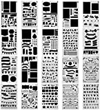 SURBLUE 20 Pcs Bullet Journal Stencil Set Planner Stencil for Journaling, Scrapbooking, DIY Cards Making and Art Projects