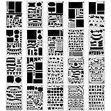 Setde 20plantillas Surblue con diseños para diario, álbum de recortes, manualidades, tarjetas y proyectos de arte