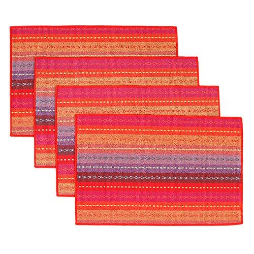autopkio-4-pc-set-tovagliette-tessuto-fatto-a-mano-intrecciato-coasters-a-coste-arcobaleno-cotone-ro