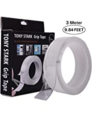 TONY STARK 3M ORIGINAL HIGH STRENGTH Double Sided Adhesive Silicon Tape, Transparent Adhesive Heavy Duty, Heat Resistant, Multi-Functional Removable Washable Reusable Anti-Slip Magic NanoTape.