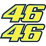 2 pegatinas Rossi 46