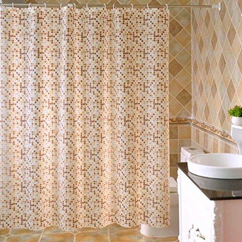 ZBB der Duschvorhang Mosaik Muster der Dicke Erru Warm und Wasserdicht zu Halten, Um Den Test der ildewproof WC Badezimmer Rideau Wasserdicht der Partition (Größe: 150 cm * 180 cm).