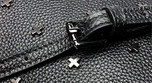 Xinmaoyuan Borse donna borsette in cuoio piccola borsa rivetti Wild Messenger Borsa a tracolla,grigio Grigio