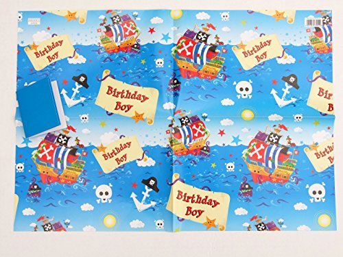 pirate-ship-birthday-boy-gift-wrap-2-sheets-2-gift-tags