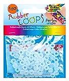 folia 33902 - Rubber Loops Perlen UV Effekt, 100 stück, transparent