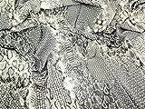 Schlange Print Tencel Kleid Stoff silber grau, Pro Meter +